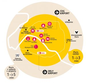 paris ulaşım bölge haritası